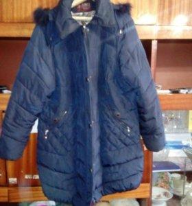 Продам зимнее пальто 64-66 р