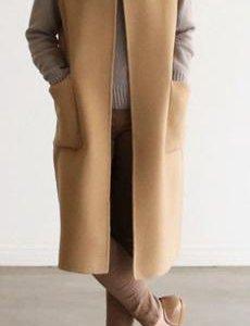 Удлиненный жилет на подкладке 56-60 р-р