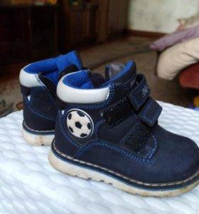 Детские ботинки, размер 21,