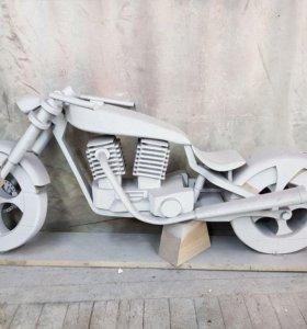 Мотоцикл (элемент интерьера/декорация)