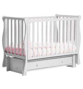 Детская кроватка Лель + матрас + наматрасник