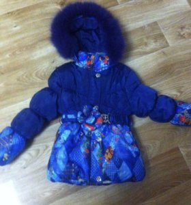 Курточка на девочку 4-5-6