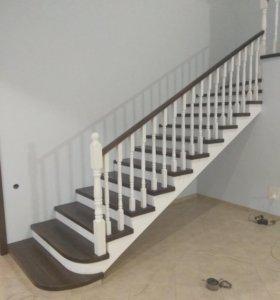 Изготовление лестницы из натурального дерева!