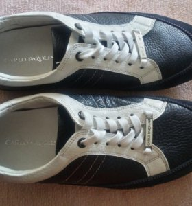 Полуботинки кожаные мужские  (кроссовки)