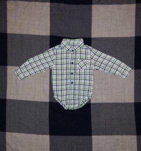 Боди-рубашка 74-80