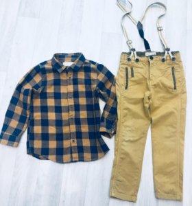 Комплект рубашка брюки ZARA