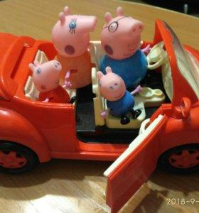 Свинка пепа и семья ( с авто)