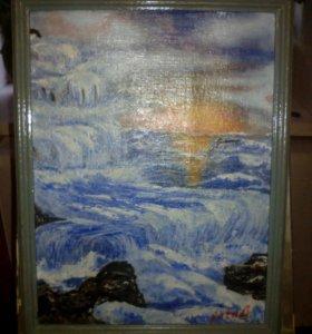 Картина масл.красками на картоне