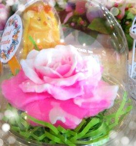 Мыло роза в колбе