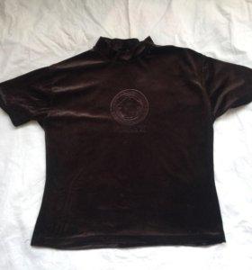 Брендовая бархатная футболка