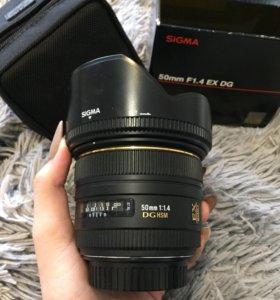 Sigma 50mm F1.4 EX DG для Canon