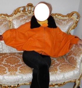 Женская кожаная эксклюзивная куртка