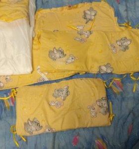 Бортики в кроватку и балдахин