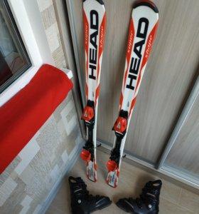 Горные лыжи Head комплект + ботинки