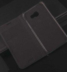 Чехол книжка на Samsung A7 2017 черный