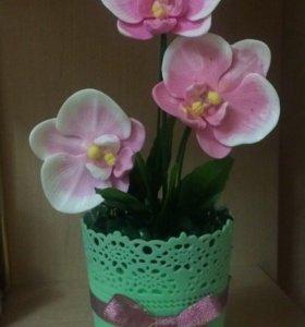 Орхидеи из мыла