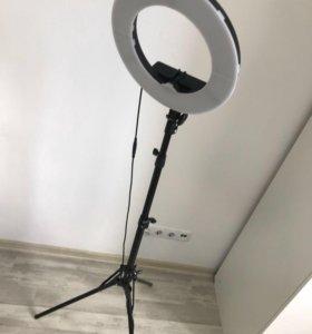 Кольцевая LED лампа новая