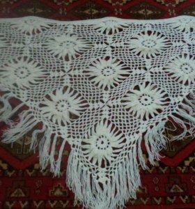 Вязанный платок мативами