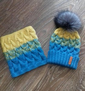 Комплект шапка со снудом