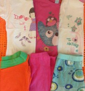 Вещи для девочки на 4 года, пакетом