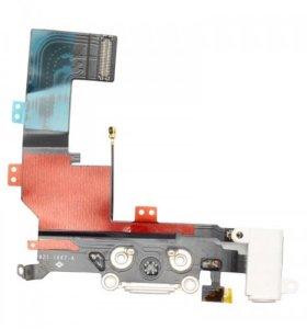 Шлейф iPhone 5S+разъем зарядки+разъем гарнитуры