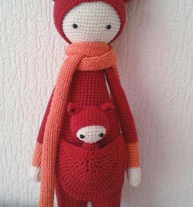 Вязаная куколка Лалилала, Кенгуру Кира