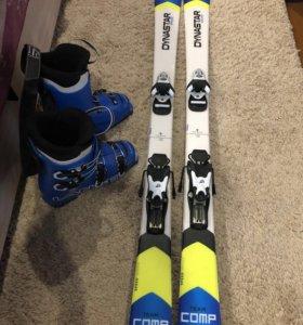 Продам комплект горных лыж и ботинки