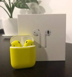 AirPods Yellow