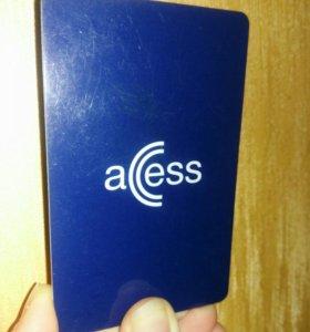 Карточка Access для проезда в стокгольмском метро