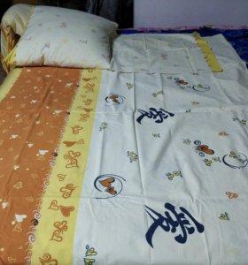 Практически новое постельное белье