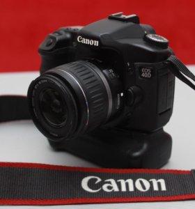 Canon 40D + бат. блок + kit 18-55 II