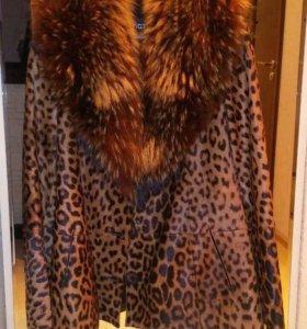 Куртка Деми из меха стриженного телёнка