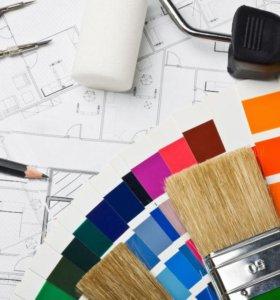 услуги ремонта и отделки  помещений