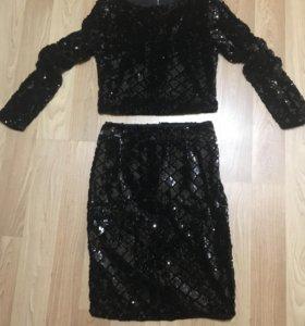 Женский костюм блузка с юбкой