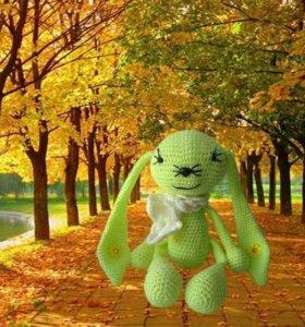 Солнечный зайчик. Игрушка амигуруми