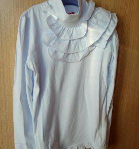 Новая блузка для школы 134 размер.