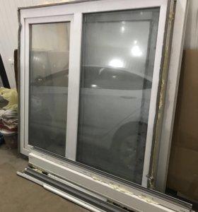 Дверь балконная и 2 окна м/п