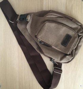 Рюкзак мужской сумка на одно плечо новый