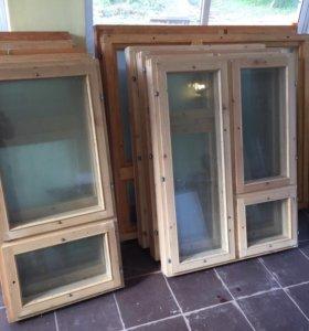 Деревянные окна новые