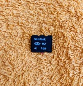 Карта памяти М2 4Гб SanDisk 4Gb Новая