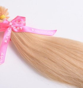 Волосы на капсулах 50 см цвет блонд