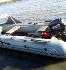 Новая надувная лодка с мотором
