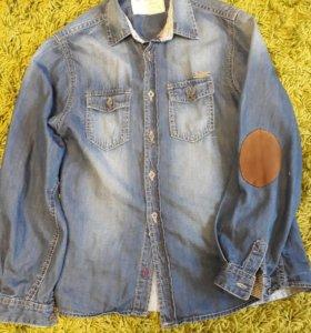 джинсовая рубашка р.134