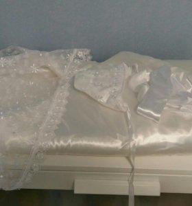 Атласное одеяло конверт на выписку