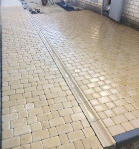 Асфальтирование и укладка тротуарной плитки