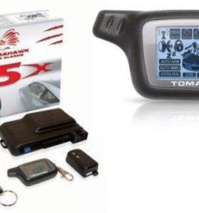 Tomahawk X5, сигнализация с автозапуском