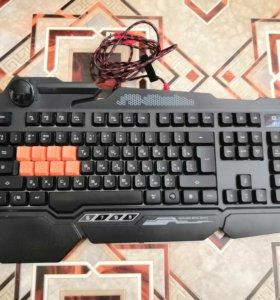 Игровая клавиатура Bloody b318 и мышка игровая.