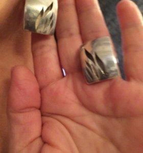 Комплект серебряный массивный