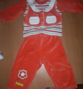 Детский спортивный костюм вилюровый