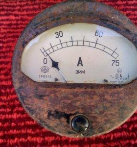 Винтажный амперметр эмм 1950 года СССР гмзп
